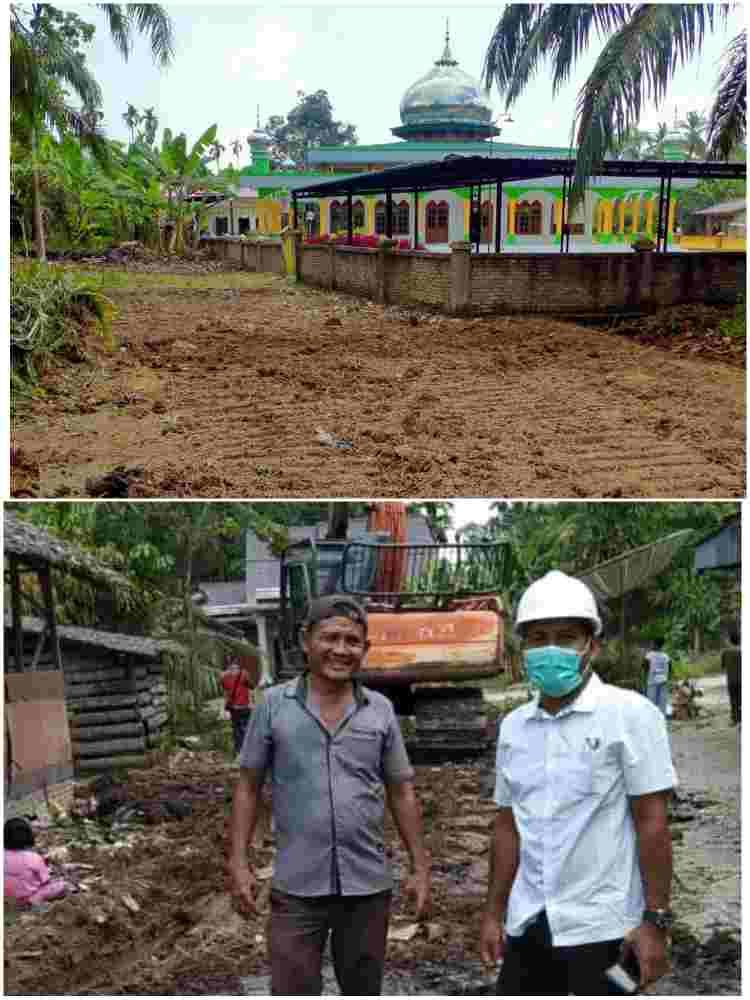 PTPN-IV Kebun Ajamu Bantu Pembuatan Jalan di Desa Sei Sentosa