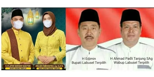 Dua Pasangan Bupati-Wabup Terpilih Pasca Pilkada Serentak 2020, Besok Kamis Dilantik Gubernur Sumut